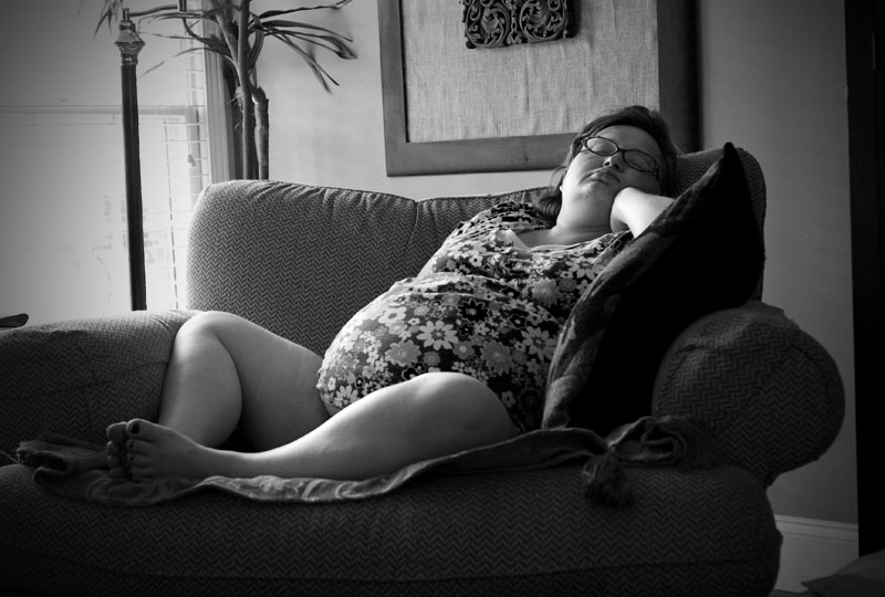 Becky, 36 Weeks & 5 Days Pregnant, Resting